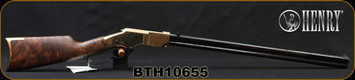 """Henry - 44-40WCF - New Original - Lever Action Rifle - Fancy American Walnut Stock/Polished Brass Receiver/Blued Stell, 24.5""""Octagonal Barrel, 13 Round Capacity, Mfg# H011, S/N BTH10655"""