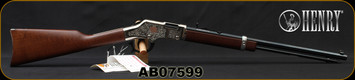"""Henry - 22S/L/LR - American Beauty - Lever Action Rifle - Walnut Stock/Engraved Nickel Receiver/Blued, 20""""Barrel, 16 Round Tubular Magazine, Mfg# H004AB, S/N AB07599"""