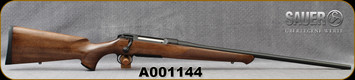 "Sauer - 338WM - Model 101 Classic - Bolt Action Rifle - Walnut Stock/Blued, 24""Barrel, 4 Round Capacity, Mfg# S101W00338, S/N A001144"