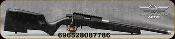 "Christensen Arms - 22LR - Ranger 22 - Black/w Grey Web Carbon Fiber Composite Rimfire Stock/Black Anodized, 18""Christensen Arms Carbon Fiber Tension Rimfire Barrel, 22LR Bentz Match Chamber, Compatible w/Ruger 10/22 Mags(1 incl). Mfg# 801-12002-00"