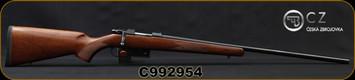 "CZ - 204Ruger - Model 527 Varmint - Bolt Action Centerfire Rifle - Turkish Walnut Stock/Matte Blued Finish, 24""Barrel, 5 Round Detachable Magazine, Adjustable single set trigger, 1:12"" Twist, Mfg# 5274-3907-JAAKAB5, S/N C992954"
