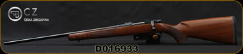 "CZ - 223Rem - 527 American LH - Bolt Action Rifle - Turkish Walnut Stock/Blued, 21.9"" Barrel, 5 Round Detachable Magazine, Mfg# 5274-6421-UAAKAB5, S/N D016933"