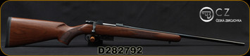 """CZ - 17Hornet - 527 American - Bolt Action Rifle - American Style Turkish Walnut Stock/Blued, 21.875"""" Barrel, 5 Round Detachable Magazine, No Sights-Integrated 16mm Scope Base, Mfg# 5274-8205-UAAKAB5, S/N D282792"""