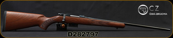 "CZ - 17Hornet - 527 American - Bolt Action Rifle - American Style Turkish Walnut Stock/Blued, 21.875"" Barrel, 5 Round Detachable Magazine, No Sights-Integrated 16mm Scope Base, Mfg# 5274-8205-UAAKAB5, S/N D282797"