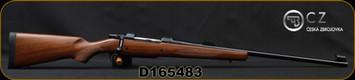 "CZ - 458Lott - 550 American Safari Magnum - Bolt Action Rifle - American-Style Turkish Walnut Stock/Blued Finish, 25"" Barrel, 5 Round Capacity, Express Sights, Mfg# 5504-5822-MEEAAB5, S/N D165483"