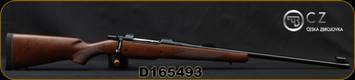 "CZ - 458Lott - 550 American Safari Magnum - Bolt Action Rifle - American-Style Turkish Walnut Stock/Blued Finish, 25"" Barrel, 5 Round Capacity, Express Sights, Mfg# 5504-5822-MEEAAB5, S/N D165493"