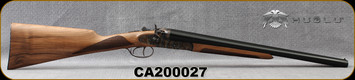 "Huglu - 12Ga/3""/20"" - 201HRZ - Hammer Gun - Grade II English Grip Turkish Walnut/Case Hardened Receiver/Chrome-Lined Barrels, Double Trigger, SKU# 8681744308946-2, S/N CA200027"
