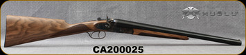 "Huglu - 12Ga/3""/20"" - 201HRZ - Hammer Gun - Grade II English Grip Turkish Walnut/Case Hardened Receiver/Chrome-Lined Barrels, Double Trigger, SKU# 8681744308946-2, S/N CA200025 - Minor flaw in right barrel blueing"