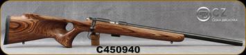 "Used - CZ - 22LR - Model 455 Thumbhole HB - Bolt Action Rimfire Rifle - Brown Laminate Thumbhole Stock/Blued, 20.7""Heavy Barrel, Detachable Magazine, c/w Nikon P-223, 3-9x40mm, BDC 600 Reticle"