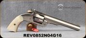 "Taylor's & Co - 44-40 - Top-Break Schofield - 6-shot Revolver - Pearl Grips/Nickel Finish, 7""Barrel, Mfg# 0852"