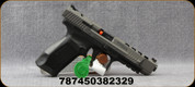 "Canik - 9mm - TP9SFx - Semi Auto Pistol - Interchangeable Backstraps,Polymer Grip & Frame Tungsten Gray/Black Finish, 5.2""Match Grade Barrel, Fiber Optic Front Sight, (1)10rd Magazine, Mfg# HG3774G-N"