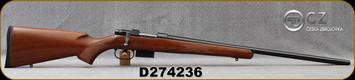 "CZ - 17Hornet - Model 527 Varmint - Bolt Action Rifle - Turkish Walnut Stock/Blued Finish, 24""Varmint Barrel, 5 Round Detachable Magazine, Mfg# 03066/5274-8209-JAAKAB5, S/N D274236"