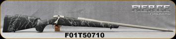 "Fierce - 300PRC - Ti Edge - Bolt Action Rifle - Black w/Grey Web Carbon Fiber Stock/Titanium Cerakote, 24""Fluted Barrel (26"")w/ Muzzle Brake"