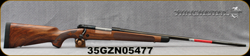 "Winchester - 264WM - Model 70 Super Grade AAA French - Bolt Action Rifle - Grade AAA French Walnut w/Shadowline cheekpiece/Polished Blued Finish, 26"" Barrel, 3 Round Hinged Floorplate, Adjustable Trigger, Mfg# 535239229, S/N 35GZN05477"