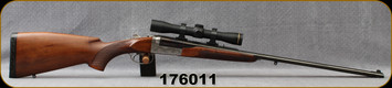 "Consign - Antonio Zoli - 9.3x74r - Model Savana E - Boxlock SxS Double Rifle - Select Walnut Bavarian-Style Stock/Engraved Silver Receiver/Blued, 25.5""Barrels, Manufactured in 1970 - only one of it's kind in Canada - see desc. For more details"