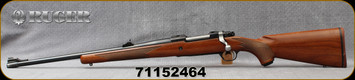 "Consign - Ruger - 338RCM - M77 Hawkeye Compact - LH - Walnut Stock/Blued, 20""Barrel, only 300 rounds fired, c/w Trijicon Accupoint3-9x40mm scope, Orange Triangle Post Reticle, 75pcs unprimed brass, Die Set - In non-original box"