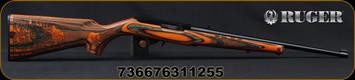 "Ruger - 22LR - 10/22 Bengal Tiger - Semi Automatic Rifle - Orange Laminate Engraved Stock/Blued, 18.5""Barrel, 10 round rotary magazine, Mfg# 31125"