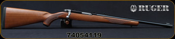 "Ruger - 44RemMag - Model 77/44 - Bolt Action Rifle - Walnut Stock/Blued, 18.5""Threaded Barrel, 4rd detachable rotary magazine, Mfg# 07416, S/N 74054119"