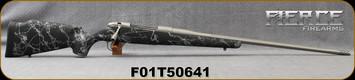 "Fierce - 300PRC - Ti Edge - Bolt Action Rifle - Black w/Grey Web Carbon Fiber Stock/Titanium Cerakote, 24""Fluted Barrel (26"")w/ Muzzle Brake, S/N F01T50641"
