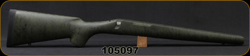 Bell and Carlson - Remington 700 BDL - Heavy Barrel - Sporter Style - Short Action - Olive Green w/Black Spiderweb