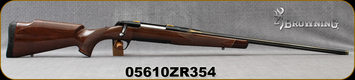 "Consign - Browning - 270Win - Medallion Safari Grade - Grade V/VI Black Walnut w/Rosewood forend tip/Gold-Accent Engraved Blued Finish, 24""Heavy Sporter Contour Barrel - New, unfired in box"