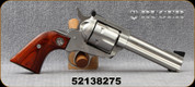 "Used - Ruger - 357Mag - New Model Blackhawk - Walnut Grips/Stainless Finish, 4.6""Barrel"