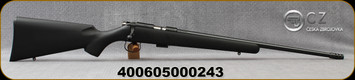 "CZ - 22LR - Model 455 Synthetic - Rimfire Bolt Action Rifle - Black Soft Touch Synthetic Stock/Blued, 20.6""Threaded Barrel, 5rd detachable Magazine, No Sights, Adjustable Trigger, Mfg# 5074-8085-RXAMAAX"