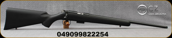 "CZ - 17HMR - Model 455 Synthetic - Rimfire Bolt Action Rifle - Black Soft Touch Synthetic Stock/Blued, 20.6""Threaded Barrel, 5rd detachable Magazine, No Sights, Adjustable Trigger, Mfg# 5074-8985-RXAMAAX"