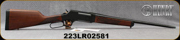 "Henry - 223Rem/5.56NATO - Long Ranger - Lever Action - Walnut Stock/Blued Finish, 20""Barrel, 5 Rounds, No Sights, Mfg# H014-223, S/N 223LR02581"