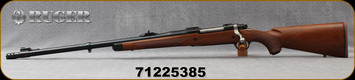 "Ruger - 375Ruger - M77 Hawkeye African - LH - Bolt Action Rifle - American Walnut Stock/Satin Blue, 23""Barrel, w/Muzzel Brake 23"" Barrel, Mfg# 47121, S/N 71225385"
