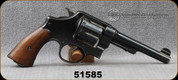 "Consign - Smith & Wesson - 45ACP - Model 1917 - 6-shot revolver - Wood Grips/Blued, 5.5""Barrel, Manufactured in 1917, marked with US Army Ordnance, markings were removed from bottom of barrel"