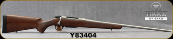 "Tikka - 7mmRM - Model T3x Hunter Stainless - Bolt Action Rifle - Walnut Stock/Stainless, 24.3""Barrel, 3 round detachable magazine, Mfg# TFTT2736103, S/N Y83404"