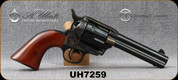 """Used - Taylor's & Co - Uberti - 38-40 - 1873 Cattleman - Single-Action Revolver - Smooth Walnut Grips/Case Hardened Frame/Blued, 4.75""""Barrel, Fixed Front Blade, Rear Frame Notch sights, Mfg# 700D - In original box"""