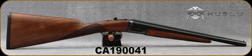 "Huglu - 28Ga/2.75""/16"" - Model 202B Mini - SXS - Turkish Walnut English Stock/Case Hardened/Chrome-Lined Barrels, Double Trigger, 5pc. Mobile Choke, SKU# 8682109400220, S/N CA190041"