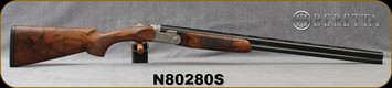 "Beretta - 20Ga/3""/28"" - Model 693 Field - O/U - Oiled High-Grade Wood Stock/Engraved Receiver/Blued, Steelium Barrels, OCHP Chokes, Mfg# 4WC8P3L200661, S/N N80280S"