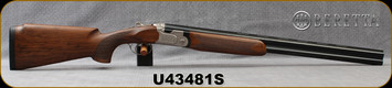 "Beretta - 12Ga/3""/26"" - Model 693 Field I Ladies - O/U - Oiled High-Grade Wood Stock/Engraved Receiver/Blued, Steelium Barrels, OCHP Chokes, Mfg# 4W26PZ2100761, S/N U43481S"