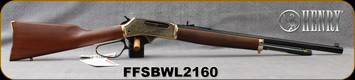 "Henry - 45-70Govt - Brass Wildlife Edition - American Walnut/Engraved brass receiver/Blued, 22"" Octagonal Barrel, 4 round capacity, Mfg# H010BWL, S/N FFSBWL2160"