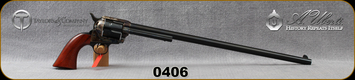 "Taylor's & Co- Uberti - 357Mag - Model 1873 Ranch Hand Buntline - Revolver - Walnut Grips/Case Hardened Frame/Blued, 18""Barrel, Mfg# 0406"