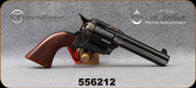 "Taylor's & Co- Uberti - 45LC - Model 1873 Short Stroke Runnin' Iron - Revolver - Walnut Grips/Case Hardened Frame/Blued, 4.75""Barrel, Mfg# 556212"
