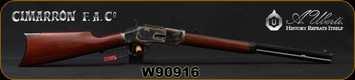 "Cimarron - Uberti - 44-40Win - 1873 Short - Lever Action Rifle - Walnut Stock/Case Colored Frame/Blued Finish, 20""Octagon Barrel, 10 Round Capacity, Mfg# CA241, S/N W90916"