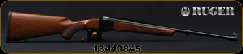 "Ruger - 280Rem - No. 1A Light Sporter - Single Shot Rifle - Walnut Stock/Blued, 22"" Barrel, Iron Sights, Mfg# 11383, S/N 13440845"