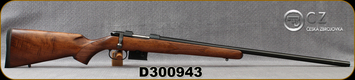 "CZ - 204Ruger - Model 527 Varmint - Bolt Action Centerfire Rifle - Turkish Walnut Stock/Matte Blued Finish, 24""Barrel, 5 Round Detachable Magazine, Adjustable single set trigger, 1:12"" Twist, Mfg# 5274-3907-JAAKAB5, S/N D300943"
