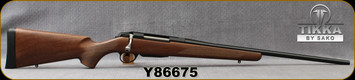 "Tikka - 270Win - Model T3x Hunter - Bolt Action Rifle - Walnut Stock/Blued, 22.4""Barrel, 3 round detachable magazine, Mfg# TF1T2136103, S/N Y86675"