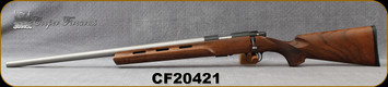 "Used - Cooper - 22LR - M57 LVT - LH - AA Claro Walnut/Stainless, 24""Heavy Barrel, Detachable Magazine - In original box w/target & papers"