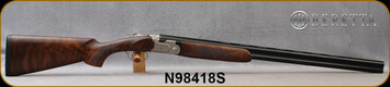 "Beretta - 20Ga/3""/28"" - Model 693 Field - O/U - Oiled High-Grade Wood Stock/Engraved Receiver/Blued, Steelium Barrels, OCHP Chokes, Mfg# 4WC8P3L200661, S/N N98418S - Demo Model 100% Unfired Condition"