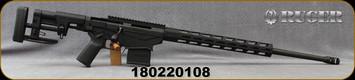 "Consign - Ruger - 6.5Creedmoor - Precision Rifle Gen3 - Bolt Action Rifle - Black Oxide/Hardcoat Anodized Finish, 24""Barrel, Magpul MOE Plus Grip, Magpul Bipod, Nitrided bolt, (2) magazines, Mfg# 18048 - In original box"
