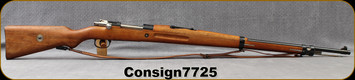 "Consign - Mauser - 7x57 - 1935 Brazilian Mauser - Bolt Action Rifle - Wood full-stock/Blued, 29""Barrel - c/w bayonet, original 1937 test target, All Numbers matching - only factory test fired - in non-original box"