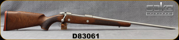 "Consign - Sako - 25-06Rem - Model 85M Hunter Stainless - Bolt action Rifle - Walnut Stock/Stainless, 22.4""Barrel - Only 200 rounds fired - In Black Doskosport hard plastic case"