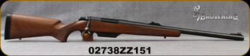 "Consign - Browning - 12Ga/3""/22"" - A-Bolt Shotgun - Rifled Barrel - Bolt Action Shotgun - Walnut Stock/Blued, Hinged Floorplate, Fiber Optic Front Sight"