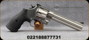 "Smith & Wesson - 10mmAuto - Model 610-3 - SA/DA Large-Frame Revolver - Black Rubber Grips/Stainless Finish, 6.5""Barrel, Adjustable rear sight, Mfg# 12462"